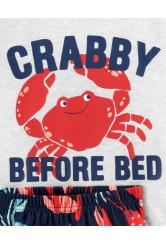 Carter's 3 darabos rák és tengeri állat mintás pizsama szett