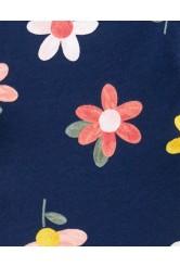 Carter's 2 darabos csíkos virágmintás ruha szett