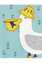 Carter's cipzáros pizsama pelikános