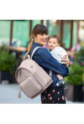 Skip Hop Greenwich pelenkázó hátitáska anyukáknak - világos szürke