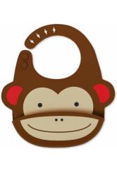 Skip Hop Zoo Fold & Go szilikon előke - Majom